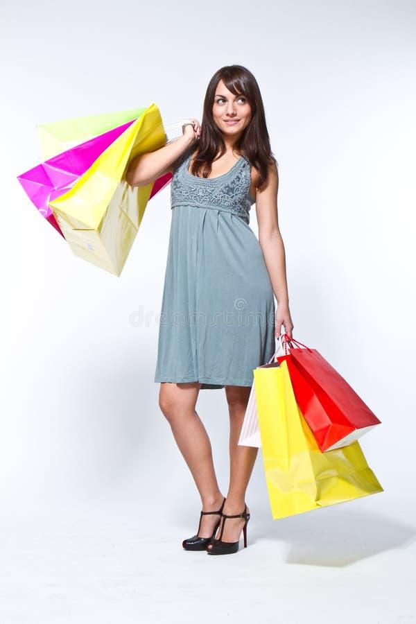 shoppingbag妇女 免版税库存图片