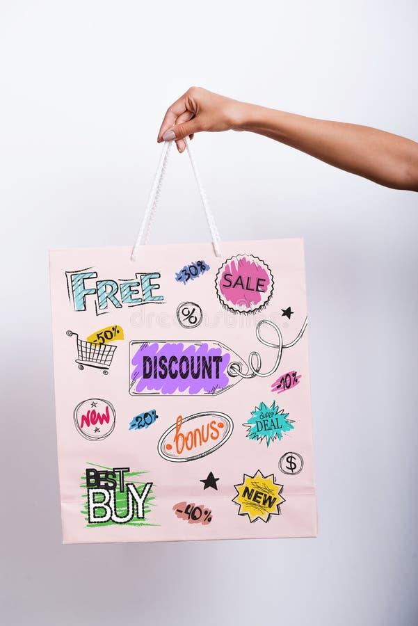Shoppingfördelar royaltyfri fotografi