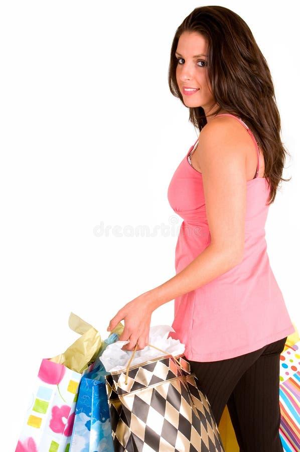 shoppingfestkvinna royaltyfria foton