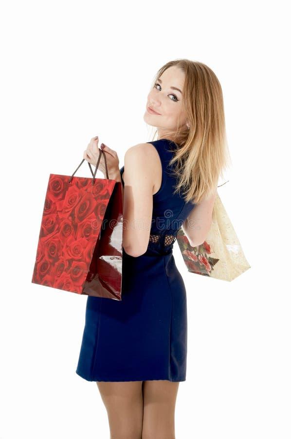 Shoppingflicka royaltyfri bild