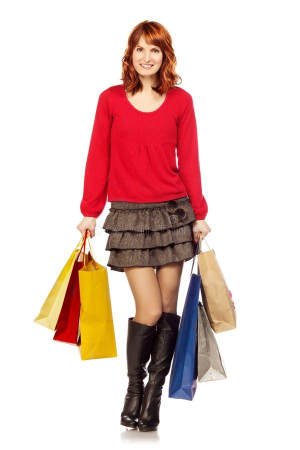 Shoppingflicka royaltyfria foton