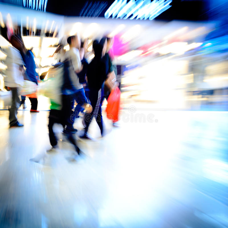 Shoppingfolkfolkmassa royaltyfri foto