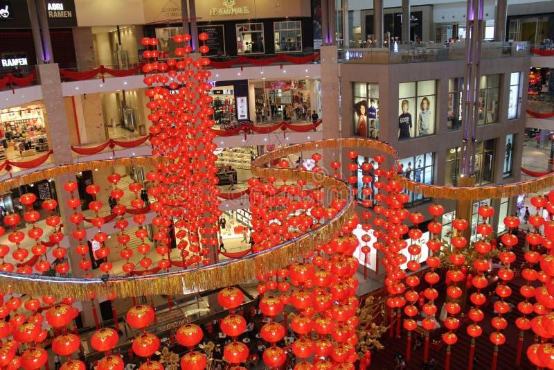 Shoppinggalleria i Kuala Lumpur på jul royaltyfri bild