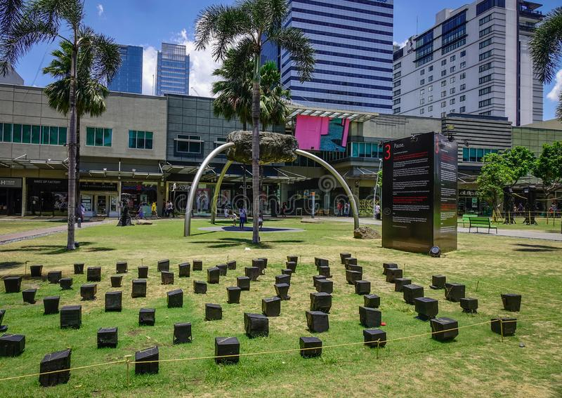 Shoppinggata i Manila, Filippinerna arkivbilder