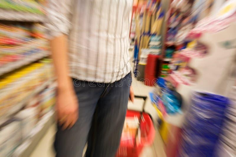 shoppinghastighet arkivfoton