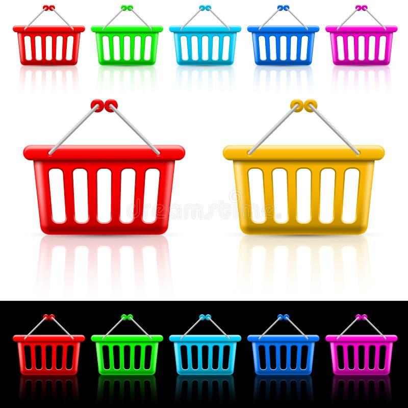Shoppingkorgar vektor illustrationer