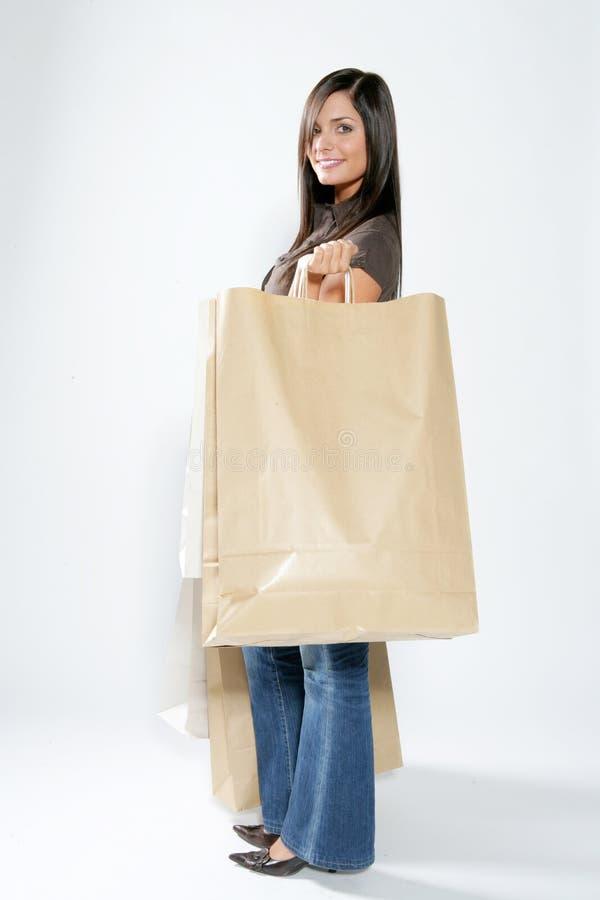 shoppingkvinna arkivfoto