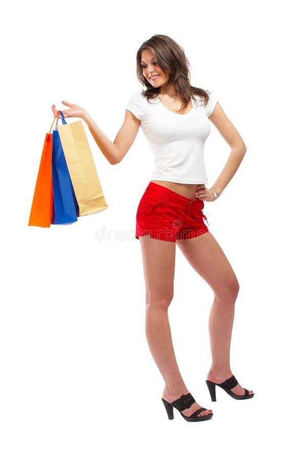 shoppingkvinna royaltyfri bild