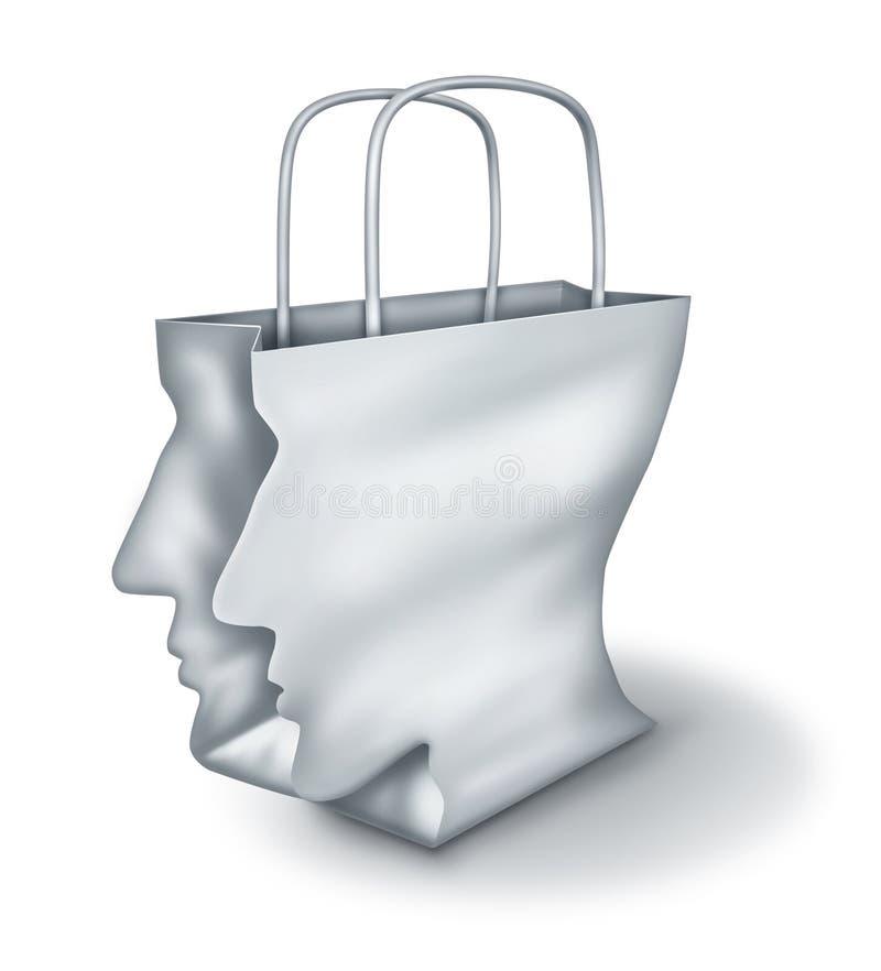 Shoppinglösningar stock illustrationer