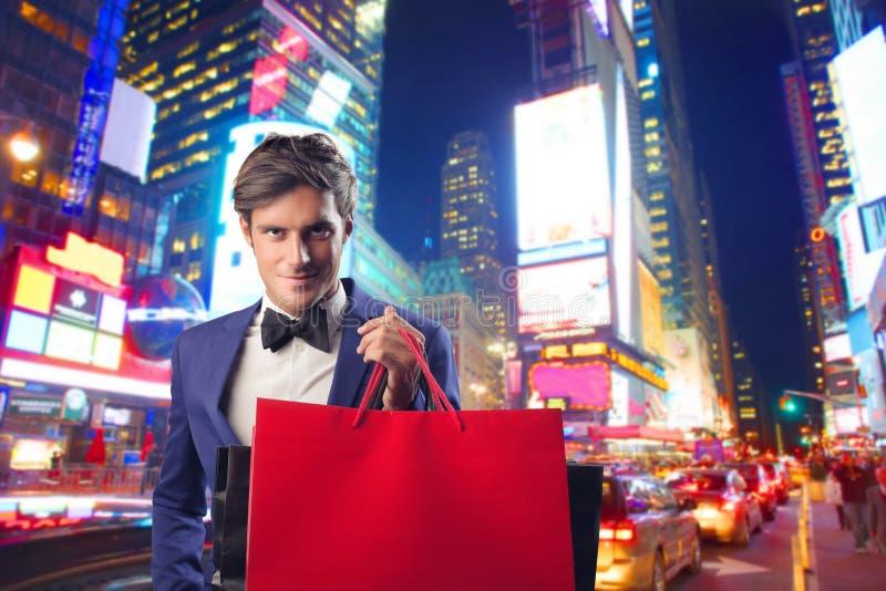 Shoppingman royaltyfri foto