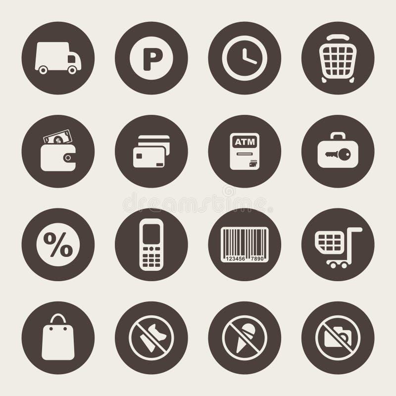Download Shoppingtemasymboler vektor illustrationer. Illustration av kreditering - 37347786