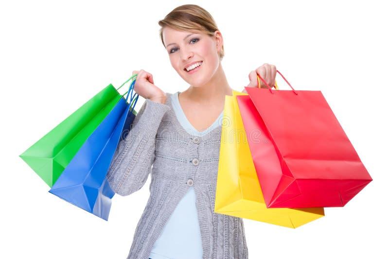 shoppingtid arkivbild