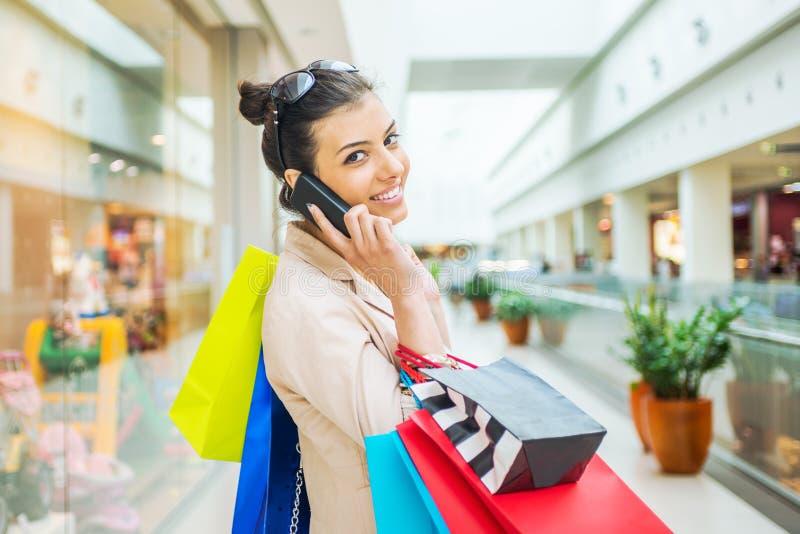 Shoppingtid royaltyfri foto