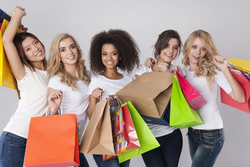Shoppingtid! arkivfoto
