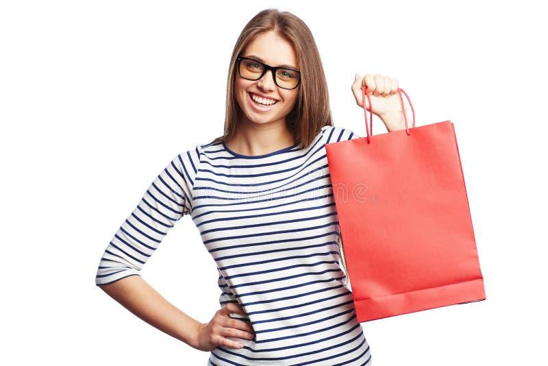 Shoppingtillfredsställelse royaltyfri bild