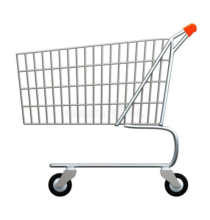shoppingtrolley vektor illustrationer