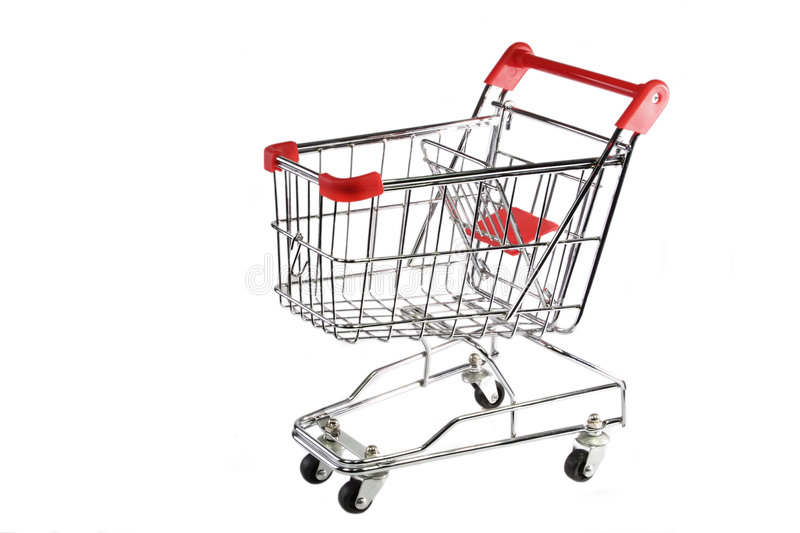 shoppingtrolley arkivbild