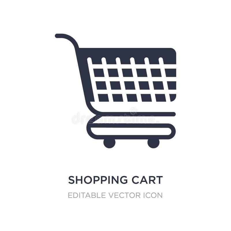 shoppingvagn med gallersymbolen på vit bakgrund Enkel beståndsdelillustration från kommersbegrepp vektor illustrationer