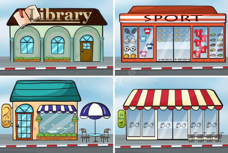 Shops vector illustration