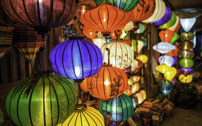 Chinese lanterns in hoi-an,vietnam 2. Shops selling chinese lanterns in hoi-an,vietnam stock image