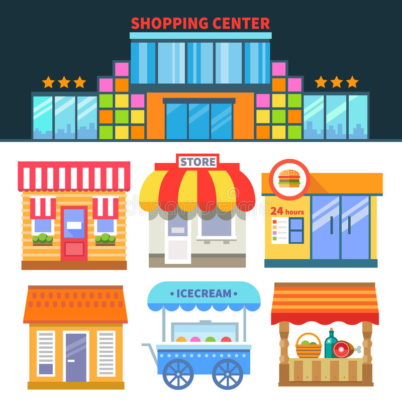 Shops and trade stock illustration