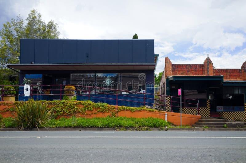 Shops und Cafés im Berg Victoria lizenzfreies stockbild