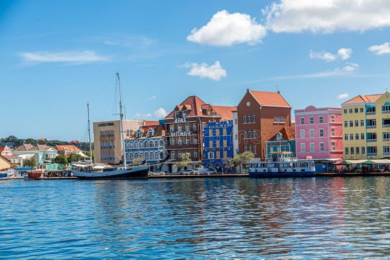 Shopsin colorido Curaçao foto de archivo libre de regalías