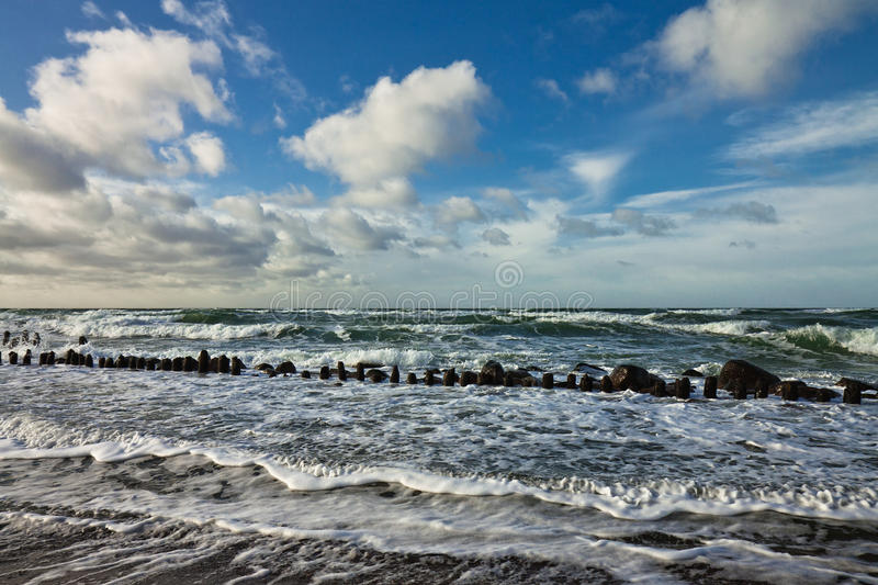 Download On shore stock image. Image of germany, evening, stormy - 23561343