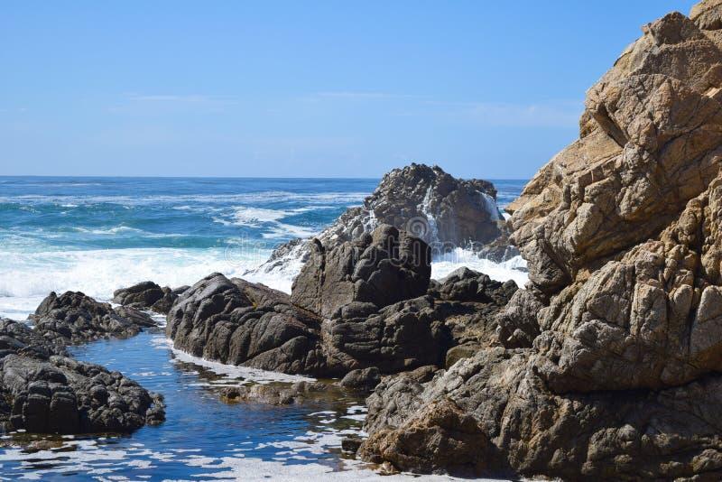 Big Sur bay, road 1, California, USA stock photography