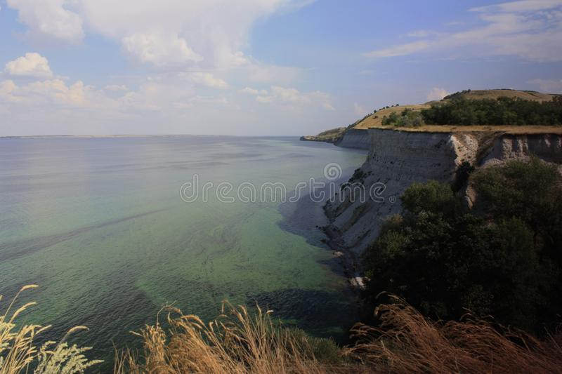 The shore and cliffs of the Volga royalty free stock images