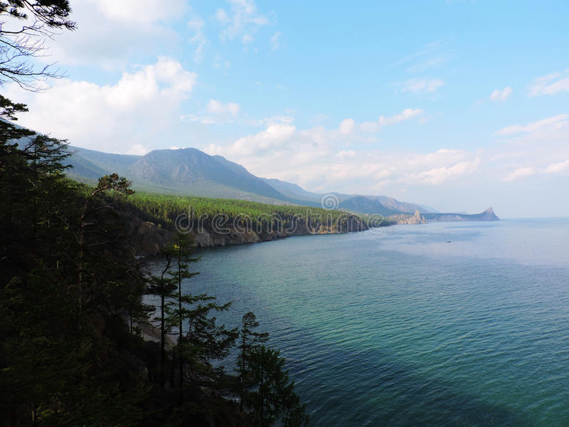 Shore of Lake Baikal stock images