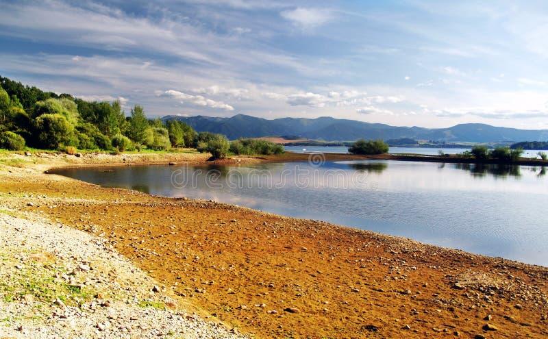 Shore - Liptovska Mara Lake. Shore at Liptovska Mara lake at autumn, Slovakia stock images