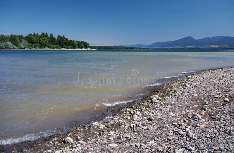 Shore of Liptovska Mara lake and Low Tatras stock image