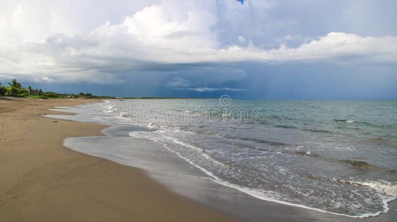 Shore of nato beach in the Philippines. Shore of nato beach camarines sur philippines royalty free stock image