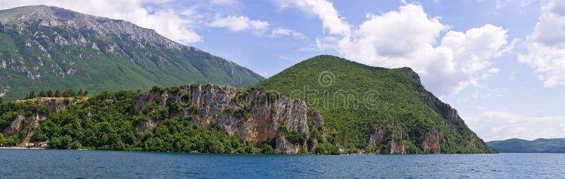 Shore of Ohrid lake, Macedonia. Shore of Ohrid lake in Macedonia stock photography