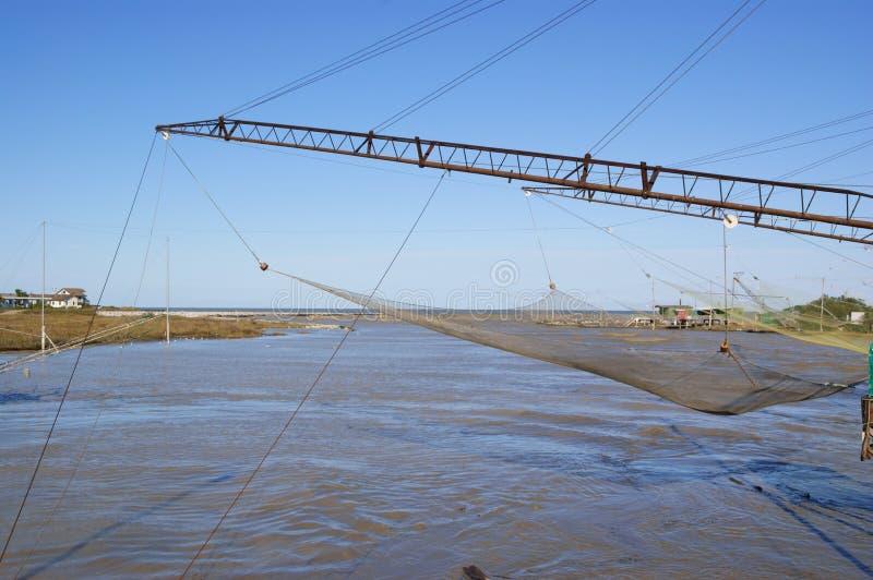 Shore operated stationary lift nets