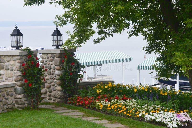 Shore Path Beauty Lake Geneva, WI royalty free stock images