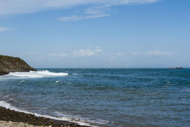 shore stones waves royalty free stock images