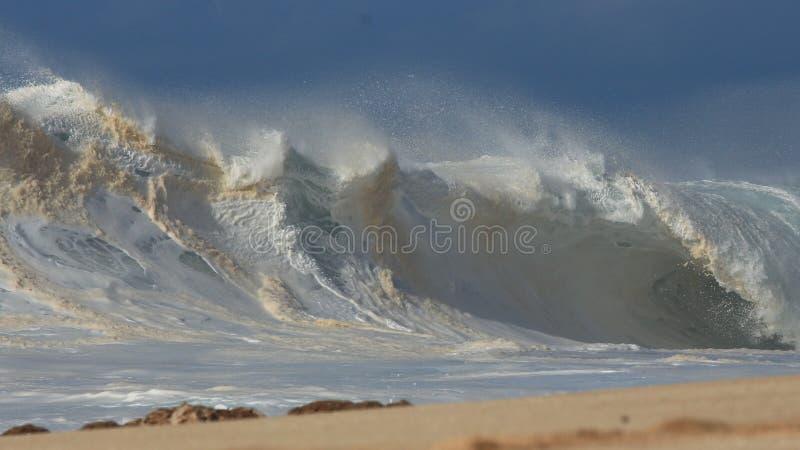 Shorebreak Hawaii's North shore royalty free stock image