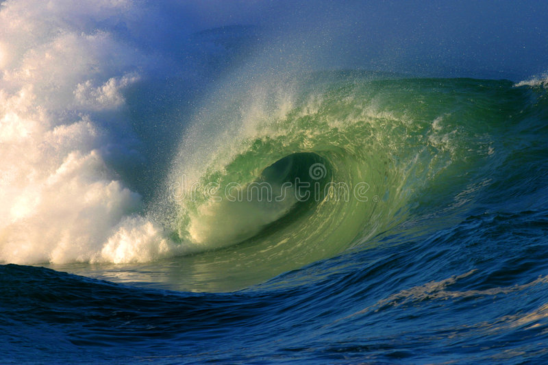 Shorebreak Surf Waves royalty free stock photography