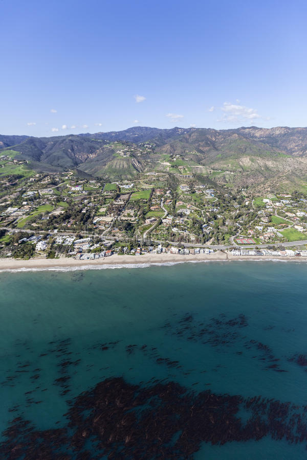 Shoreline Aerial Malibu California royalty free stock photo