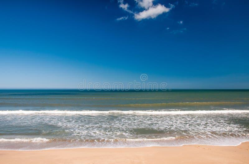 Canaveral Nation Seashore beach. Shoreline at Canaveral National Seashore stock photography