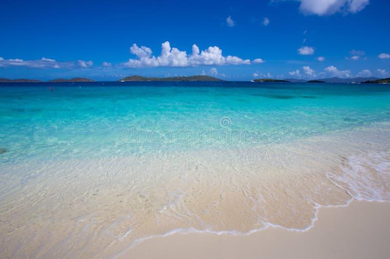 Caribbean Sea on St John, US Virgin Islands. Shoreline of Caribbean Sea on St. John, US Virgin Islands stock images
