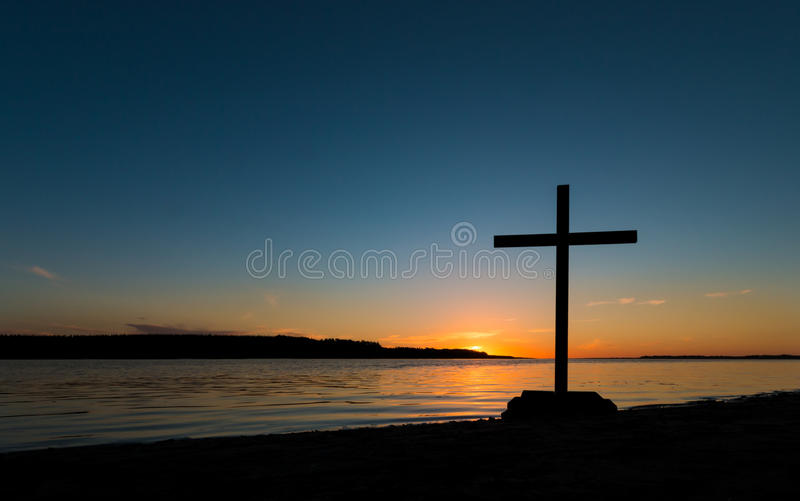 Download Shoreline Cross Sunset stock photo. Image of peaceful - 46693532
