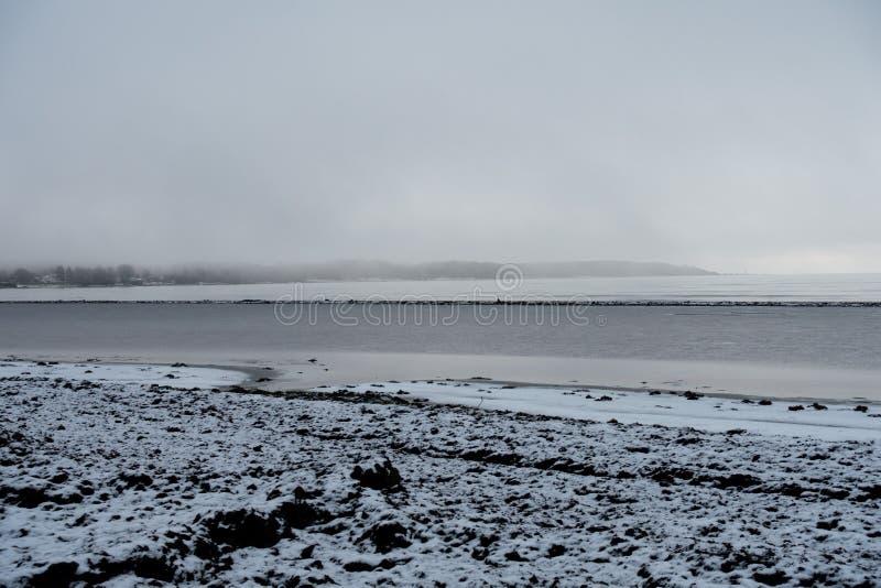 Shoreline en hiver image stock