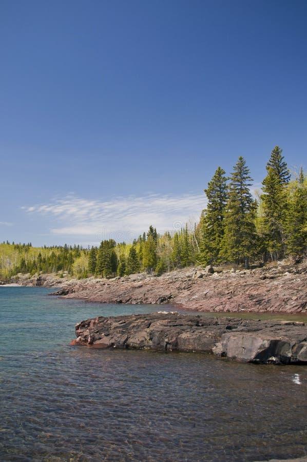 Download Shoreline lake superior stock image. Image of shore, rocky - 9546253