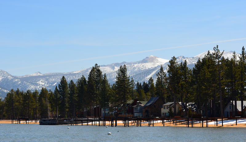 The shoreline of Lake Tahoe, California. stock image