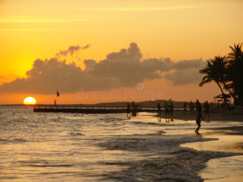 Venezuelan sunset on the coast of Margarita Island royalty free stock photography
