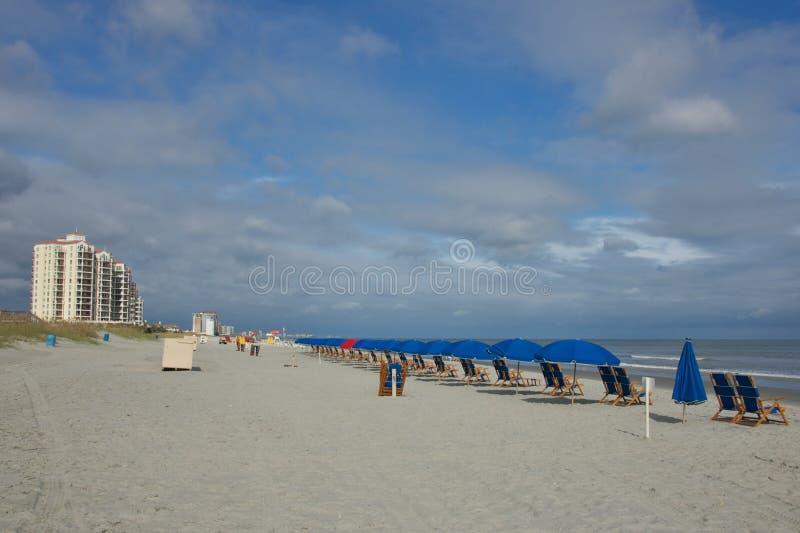 Shoreline on Myrtle Beach stock photography