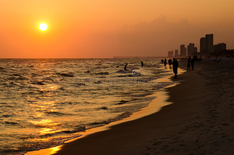 Download Shoreline Of Panama City Beach Stock Image - Image: 25272951